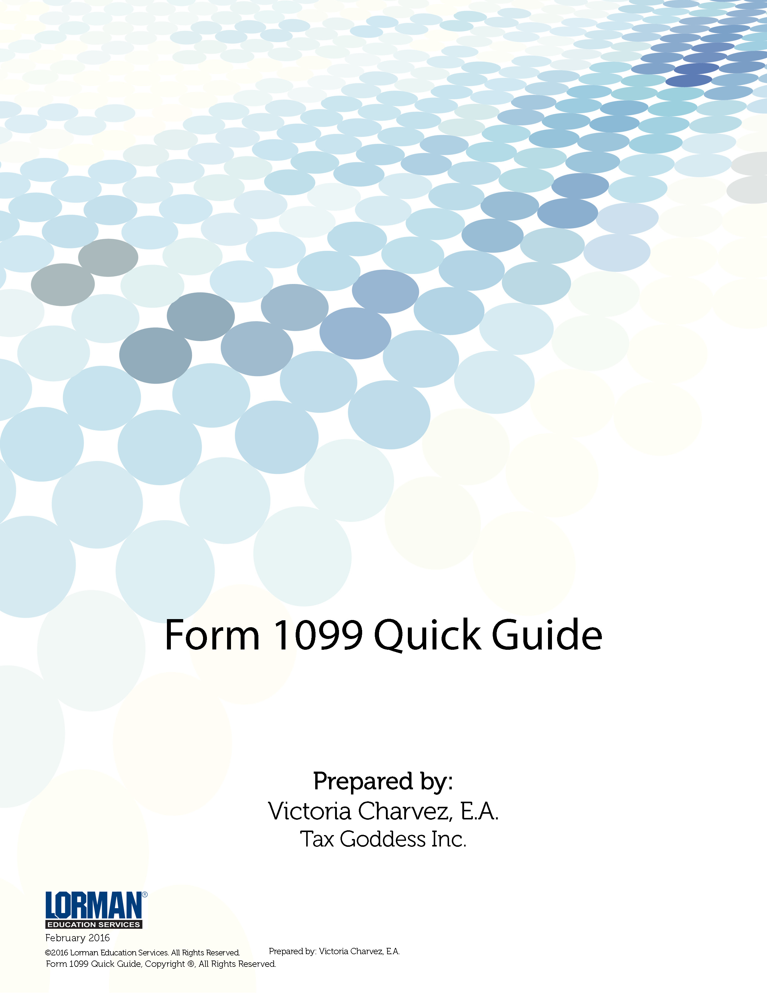 Form 1099 Quick Guide White Paper Lorman Education Services