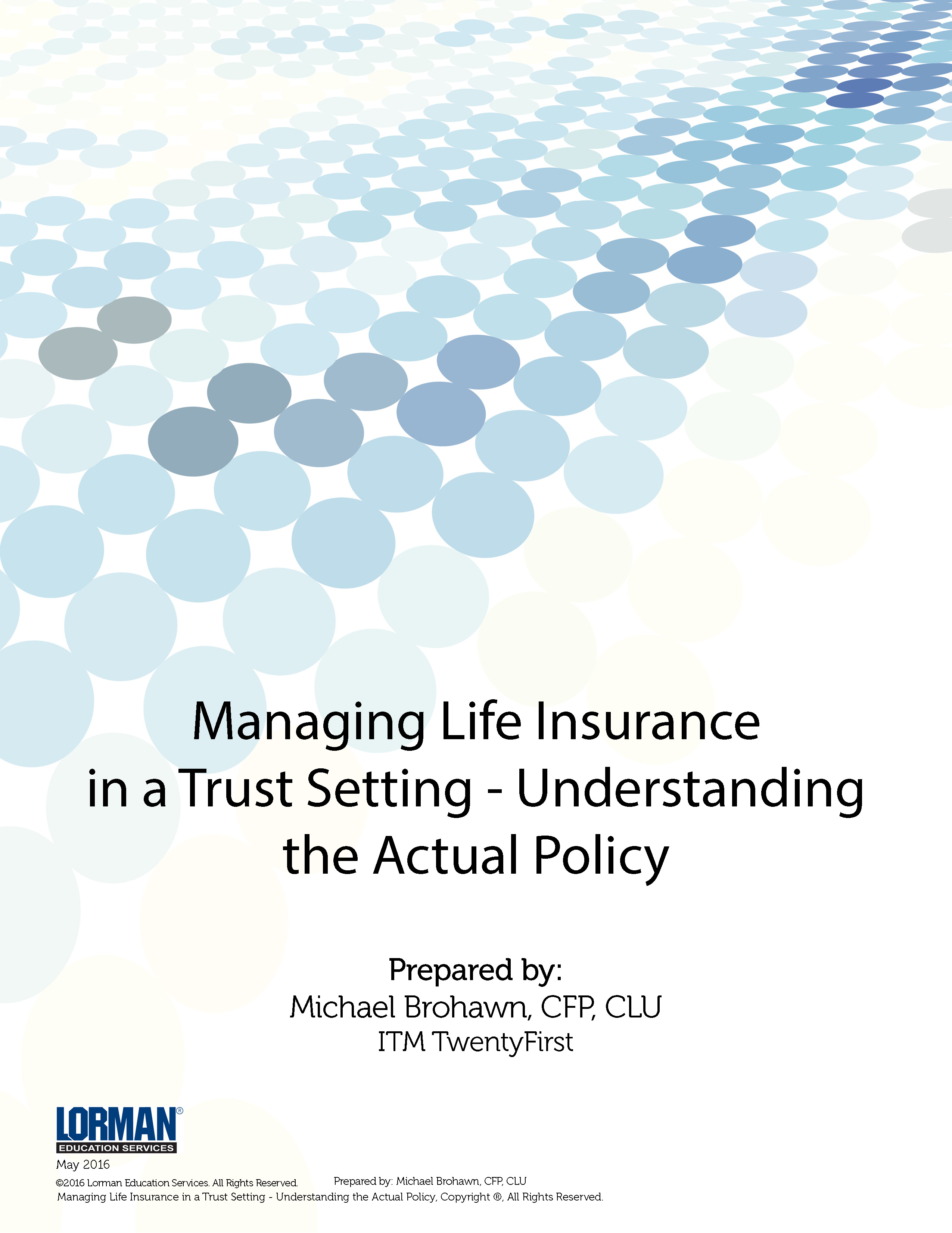 Managing Life Insurance in a Trust Setting - Understanding ...