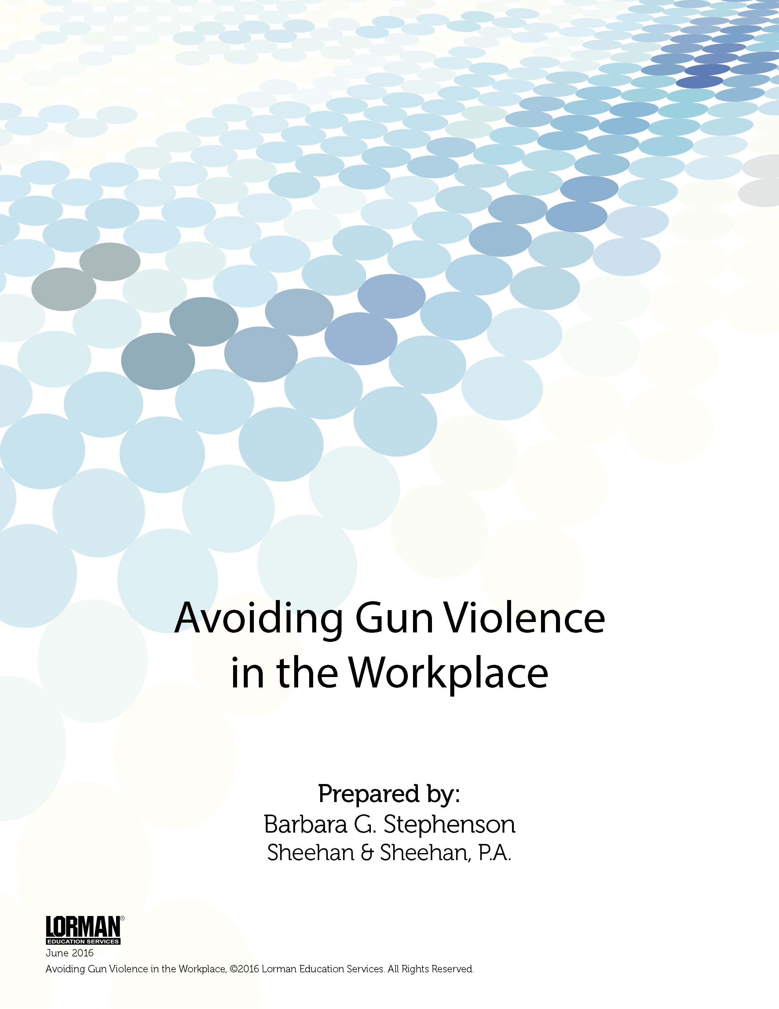 Avoiding Gun Violence in the Workplace