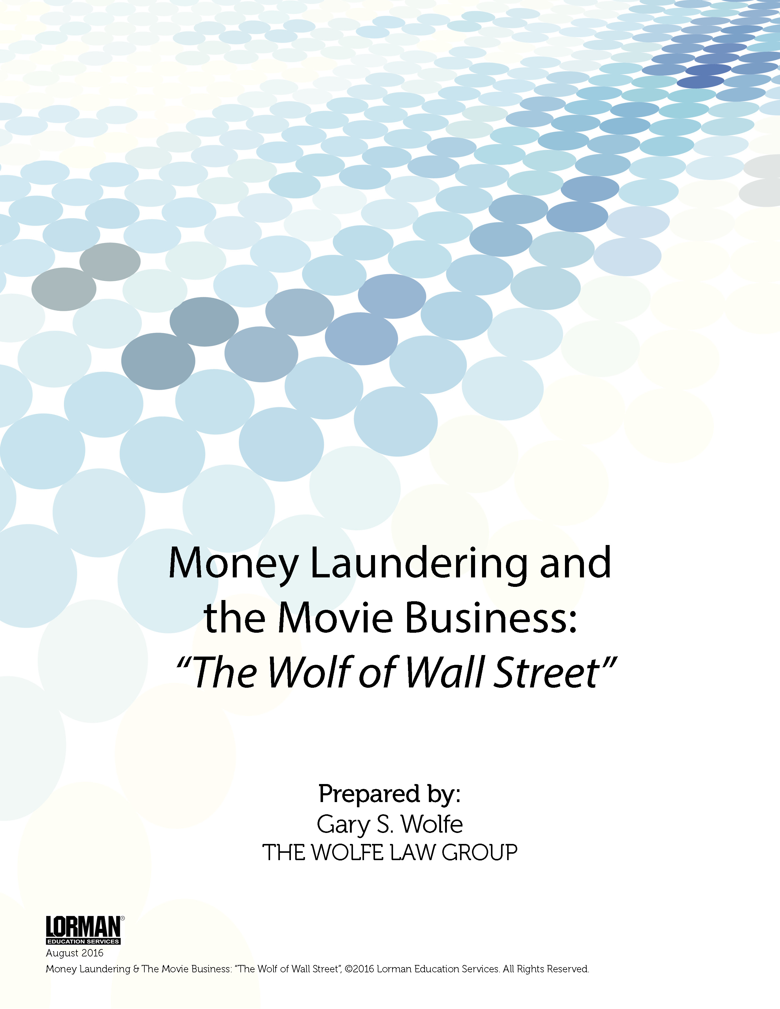 Money Laundering & The Movie Business - The Wolf of Wall Street
