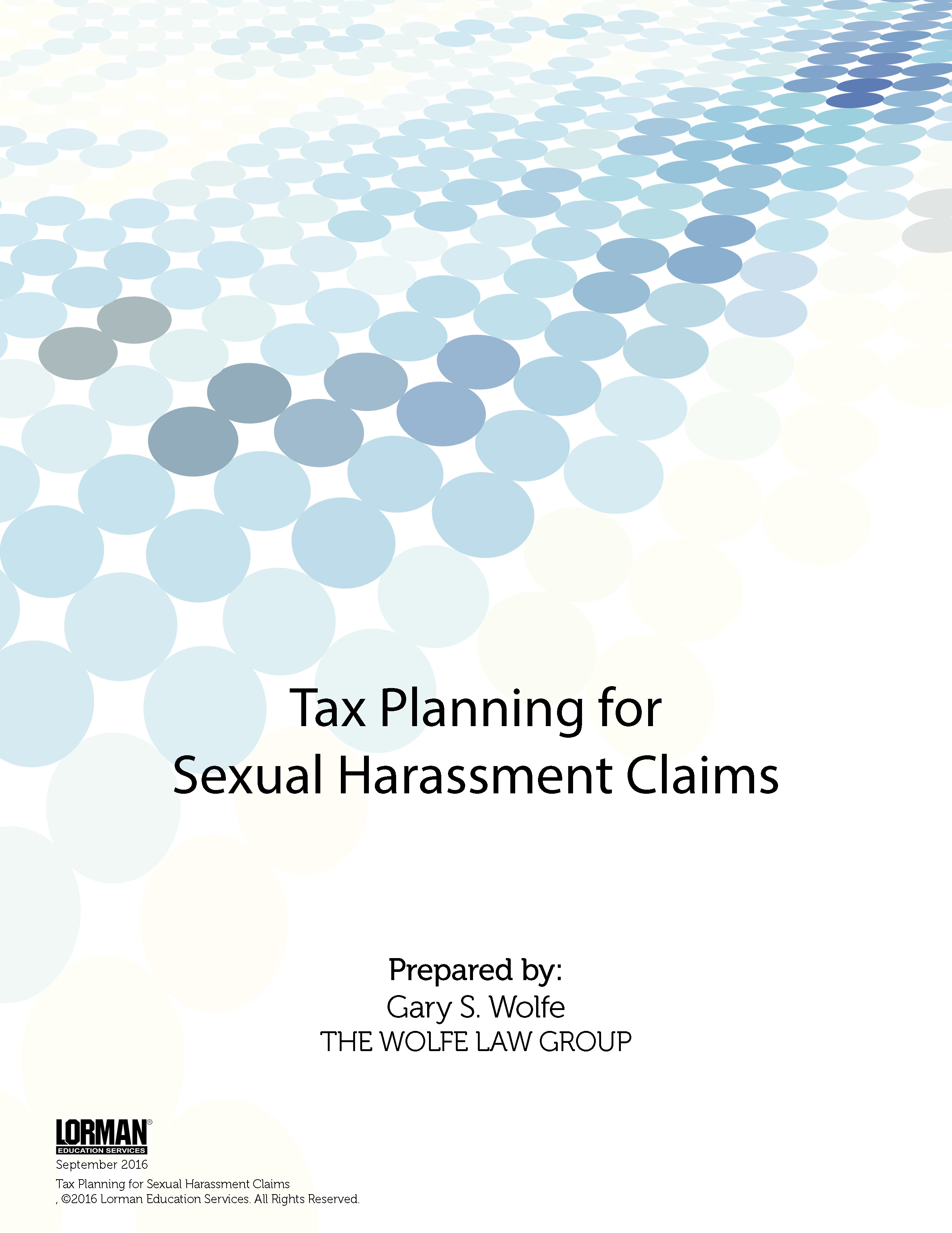 Tax Planning for Sexual Harassment Claims