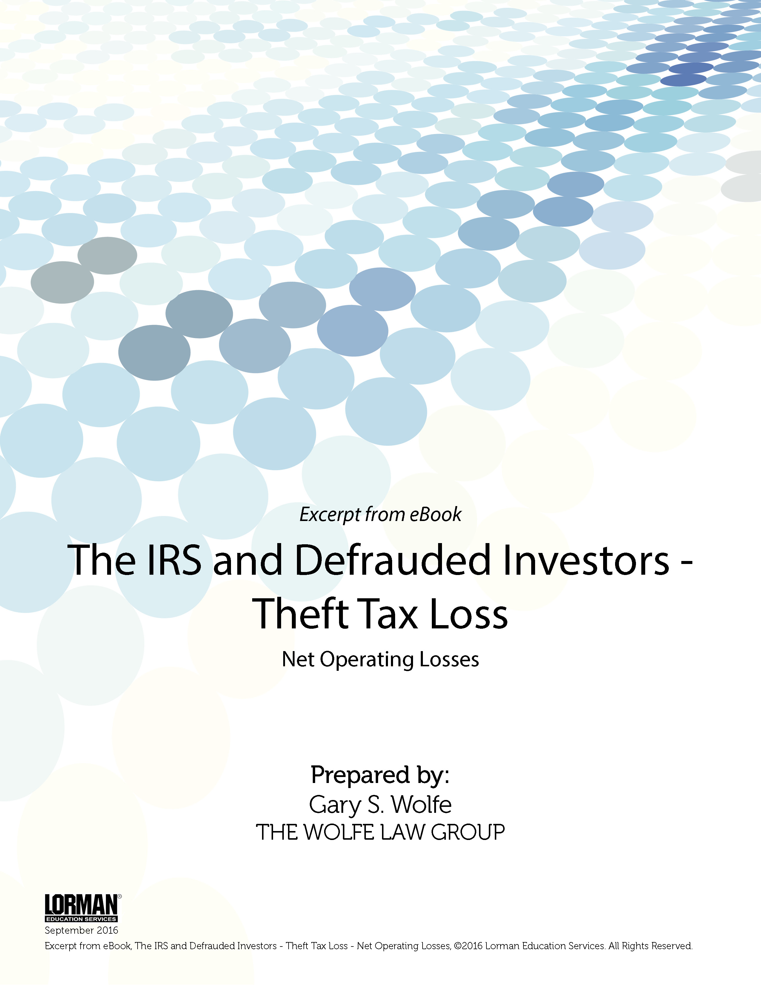 The IRS and Defrauded Investors: Theft Tax Loss - Net Operating Losses