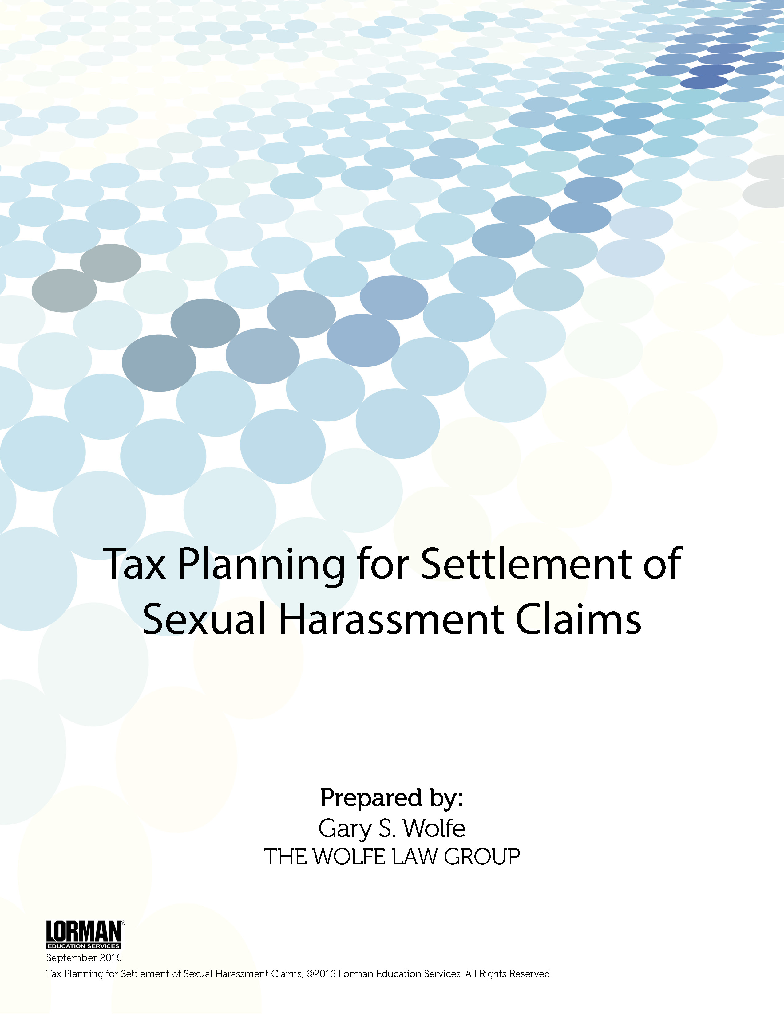 Tax Planning for Settlement of Sexual Harassment Claims