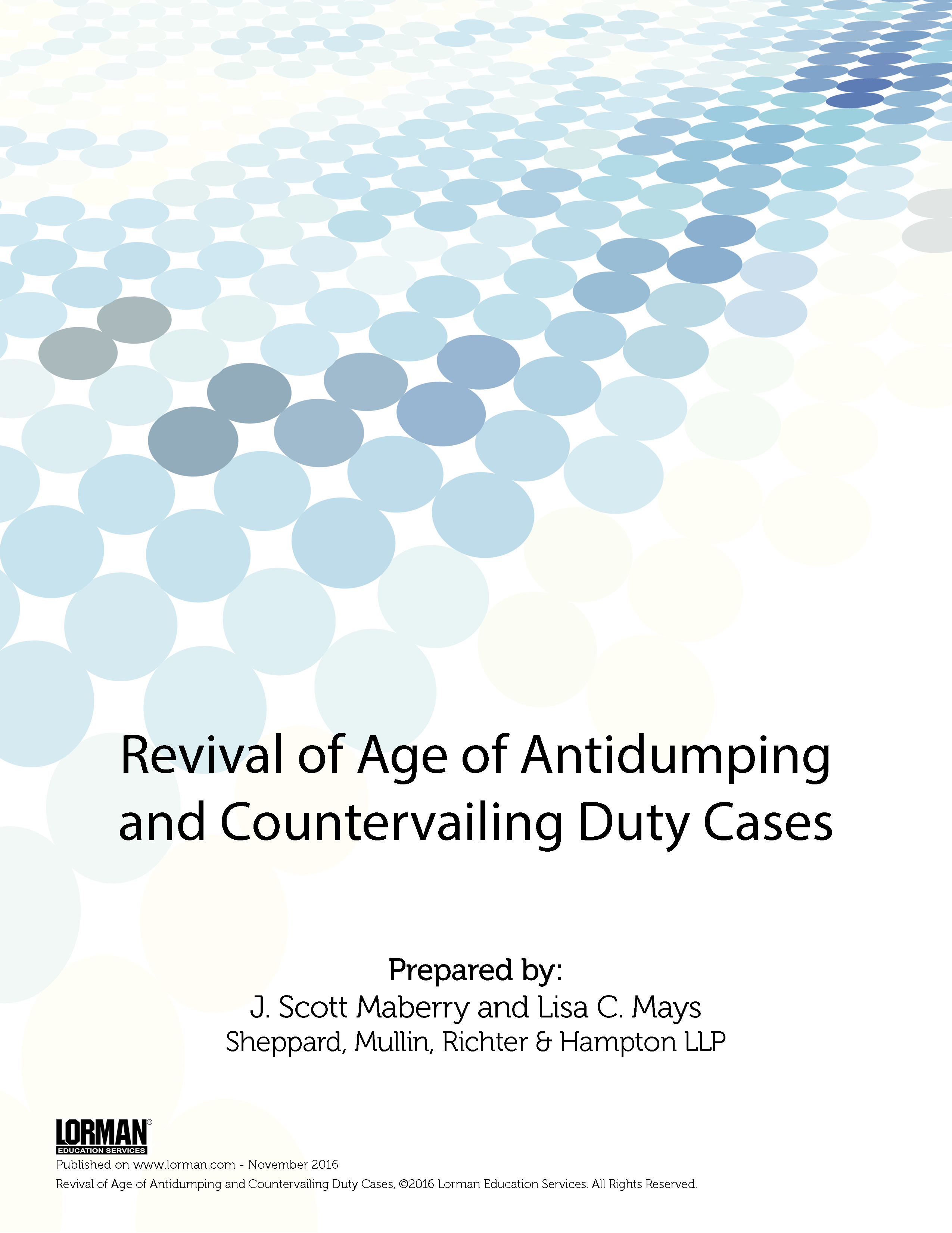 Revival of Age of Antidumping and Countervailing Duty Cases