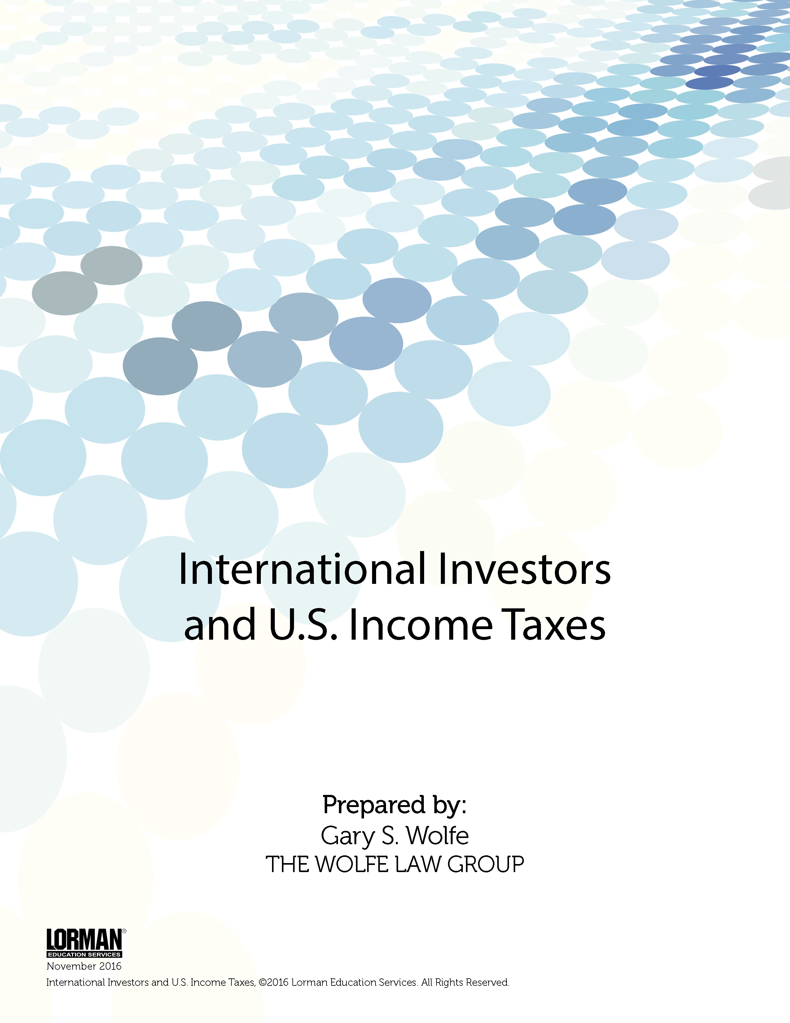 International Investors and U.S. Income Taxes