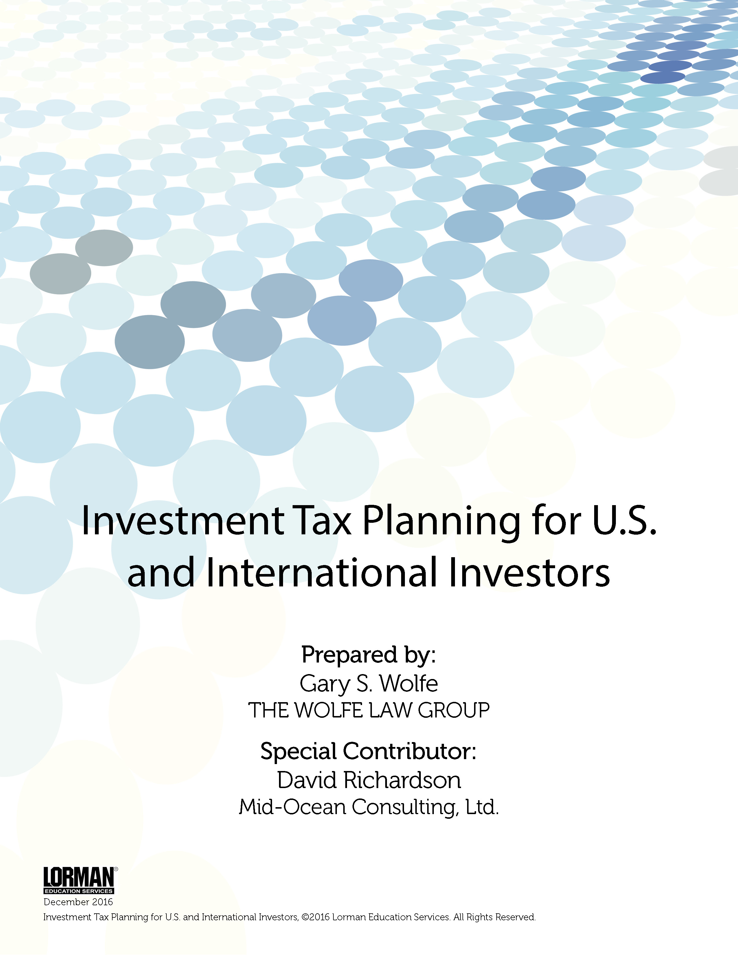 Investment Tax Planning for U.S. and International Investors