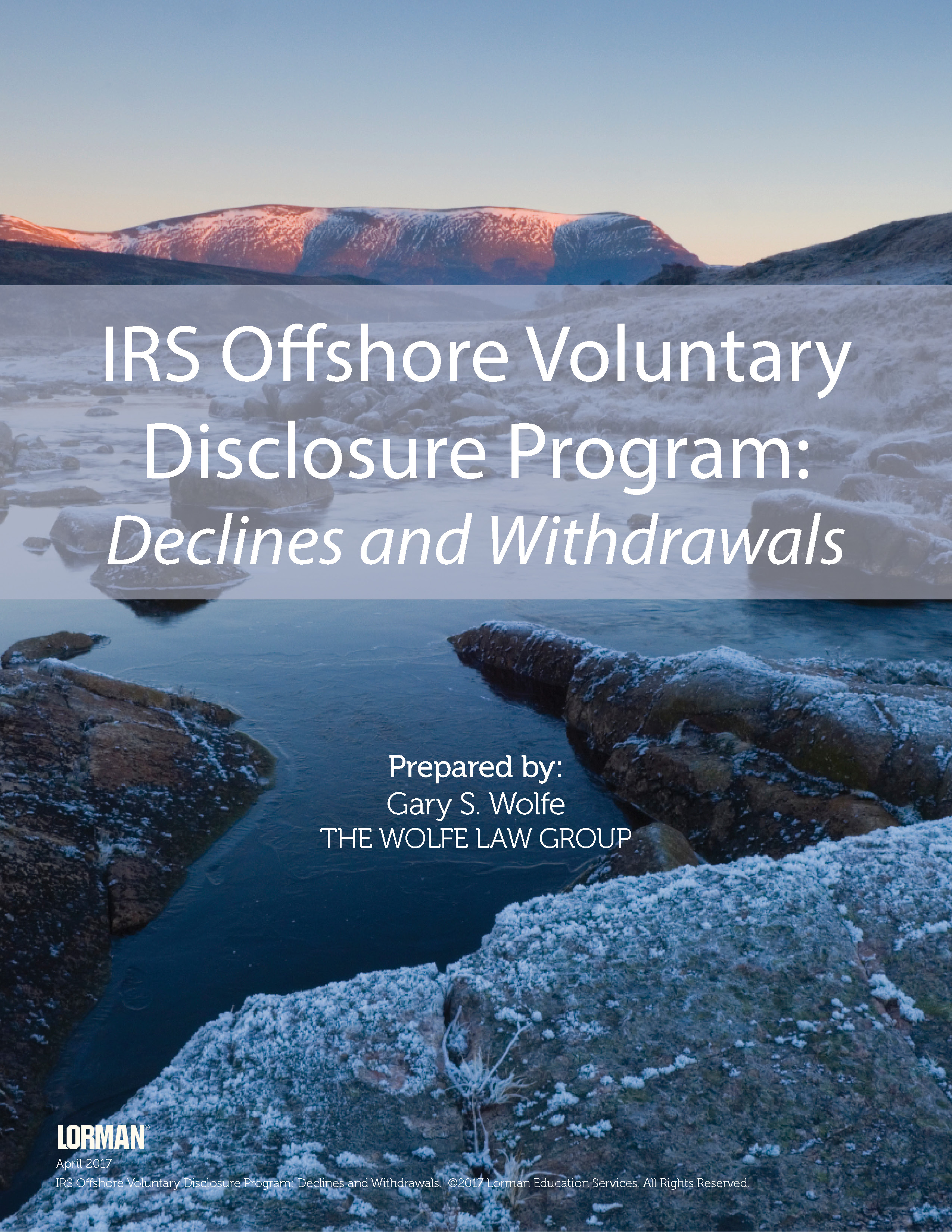 IRS Offshore Voluntary Disclosure Program: Declines and Withdrawals