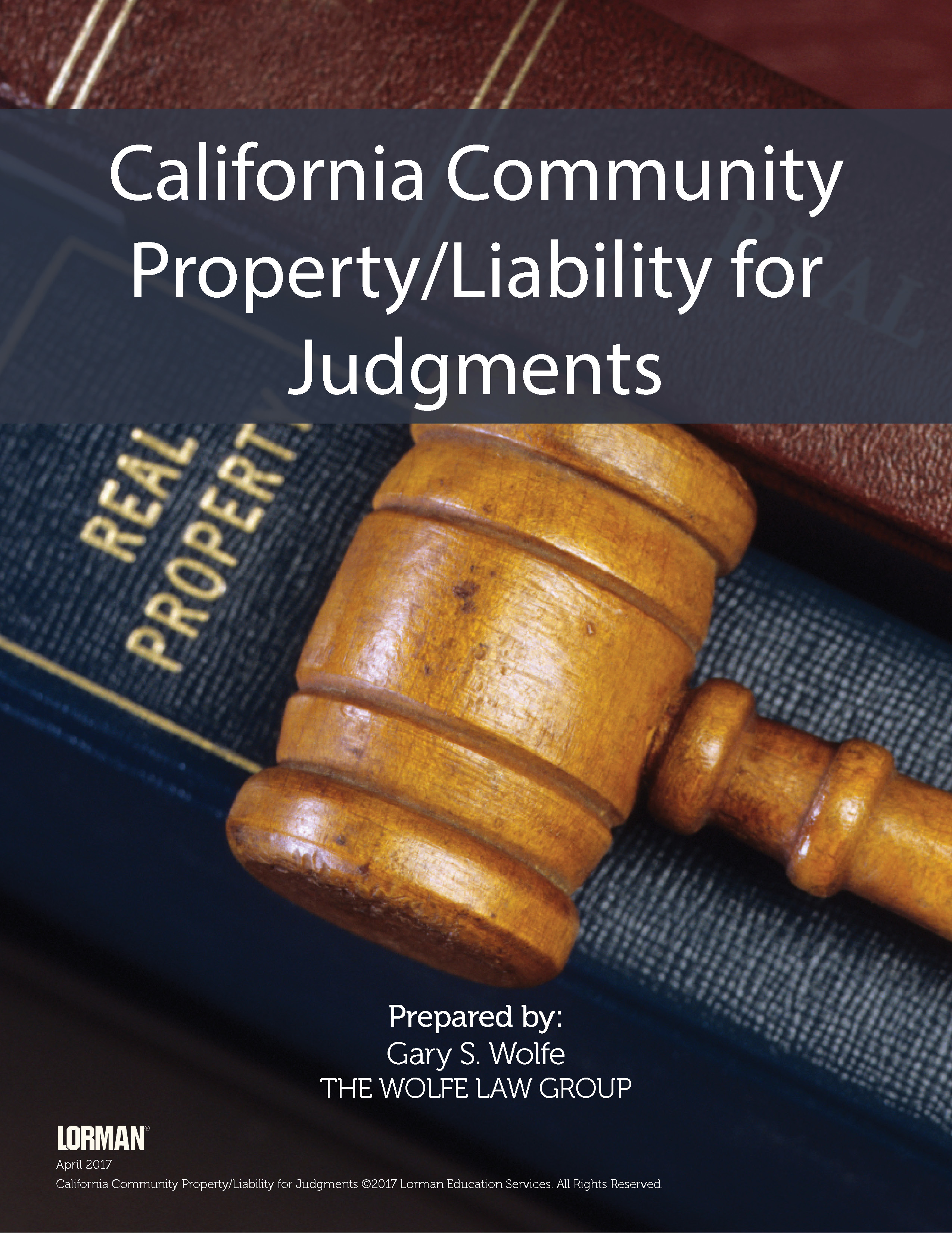 California Community Property - Liability for Judgments