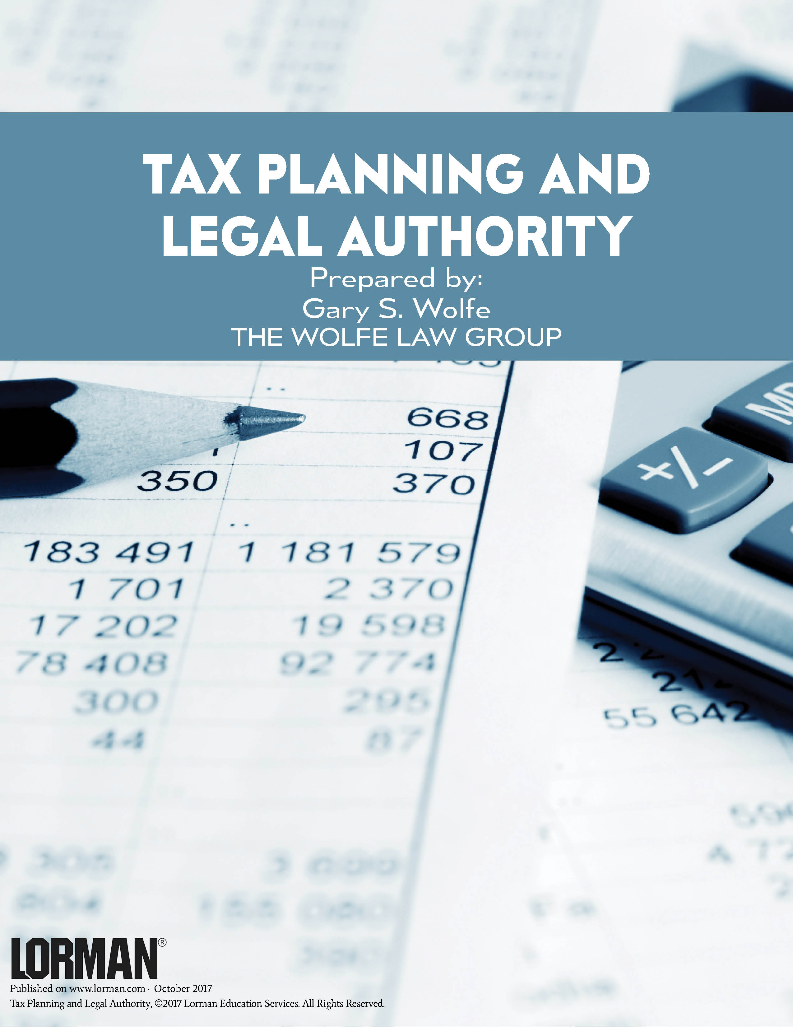 Tax Planning and Legal Authority