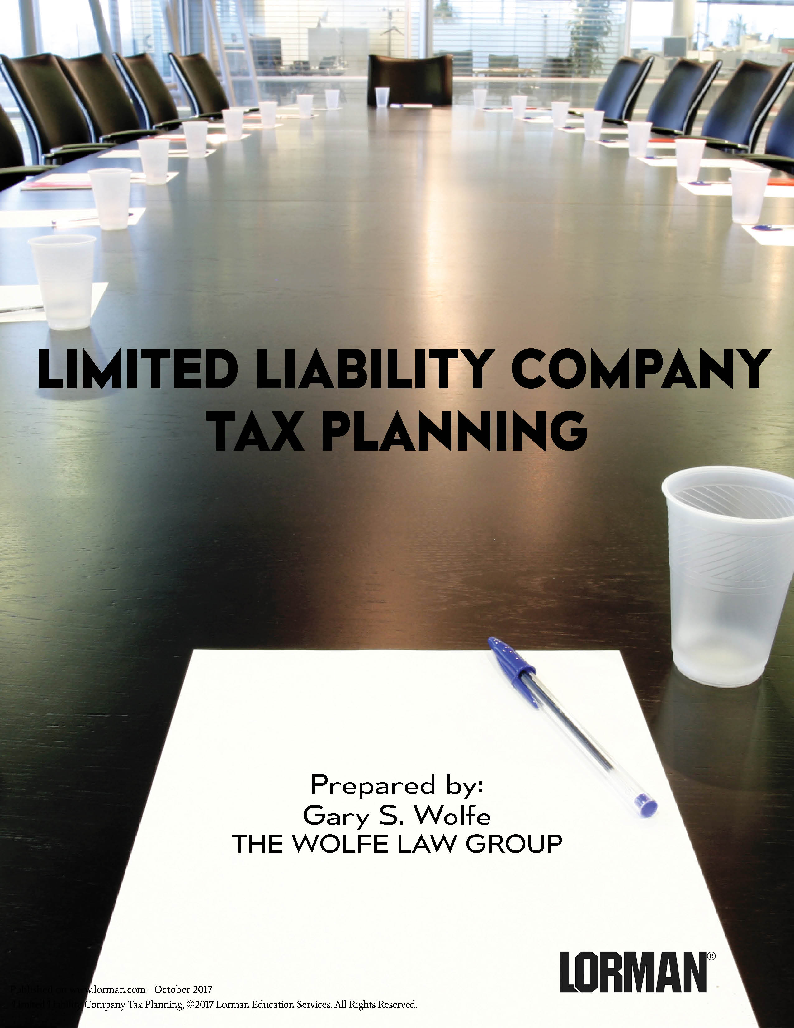 Limited Liability Company Tax Planning
