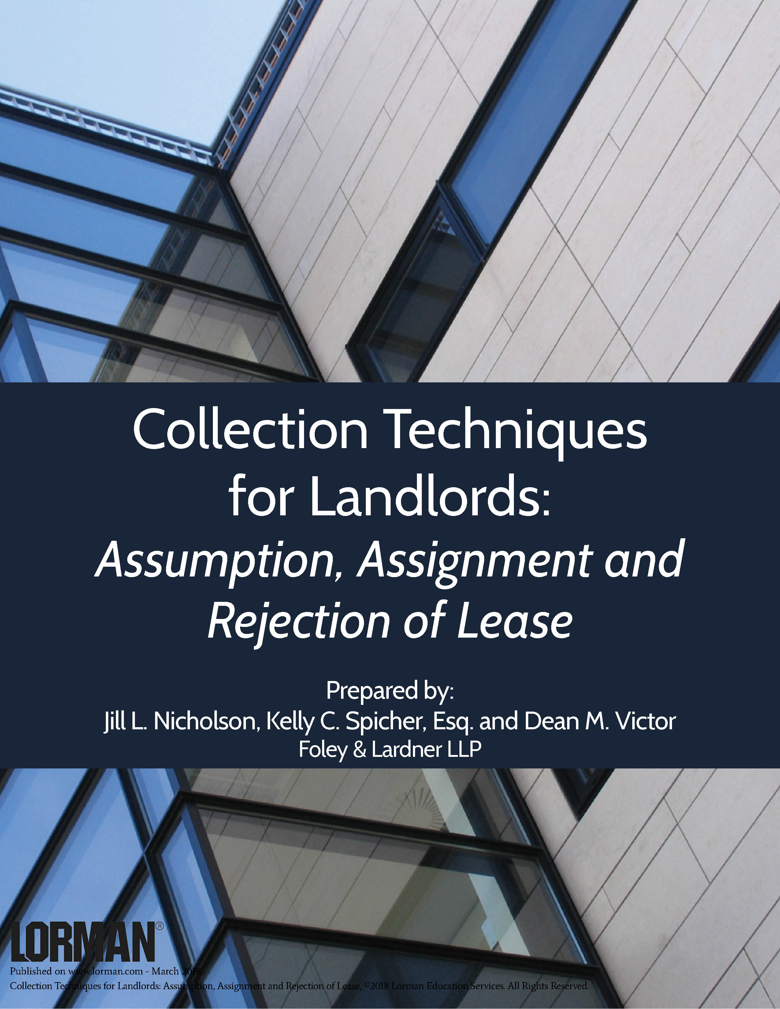 Collection Techniques for Landlords: Assumption, Assignment and Rejection of Lease