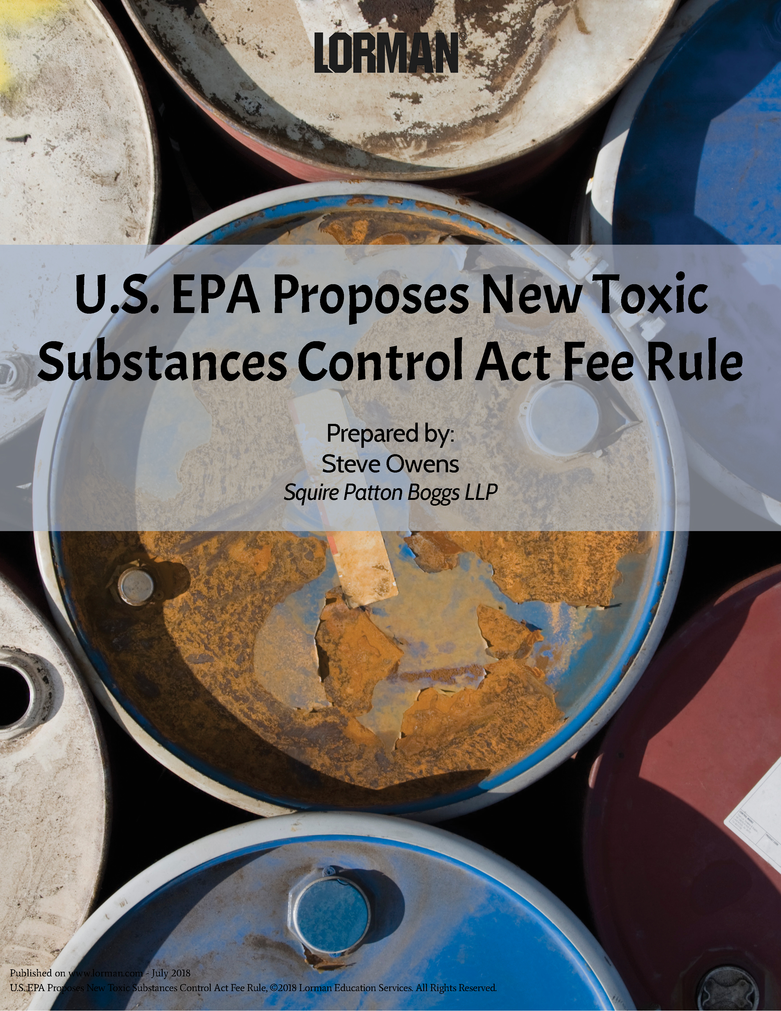 U.S. EPA Proposes New Toxic Substances Control Act Fee Rule