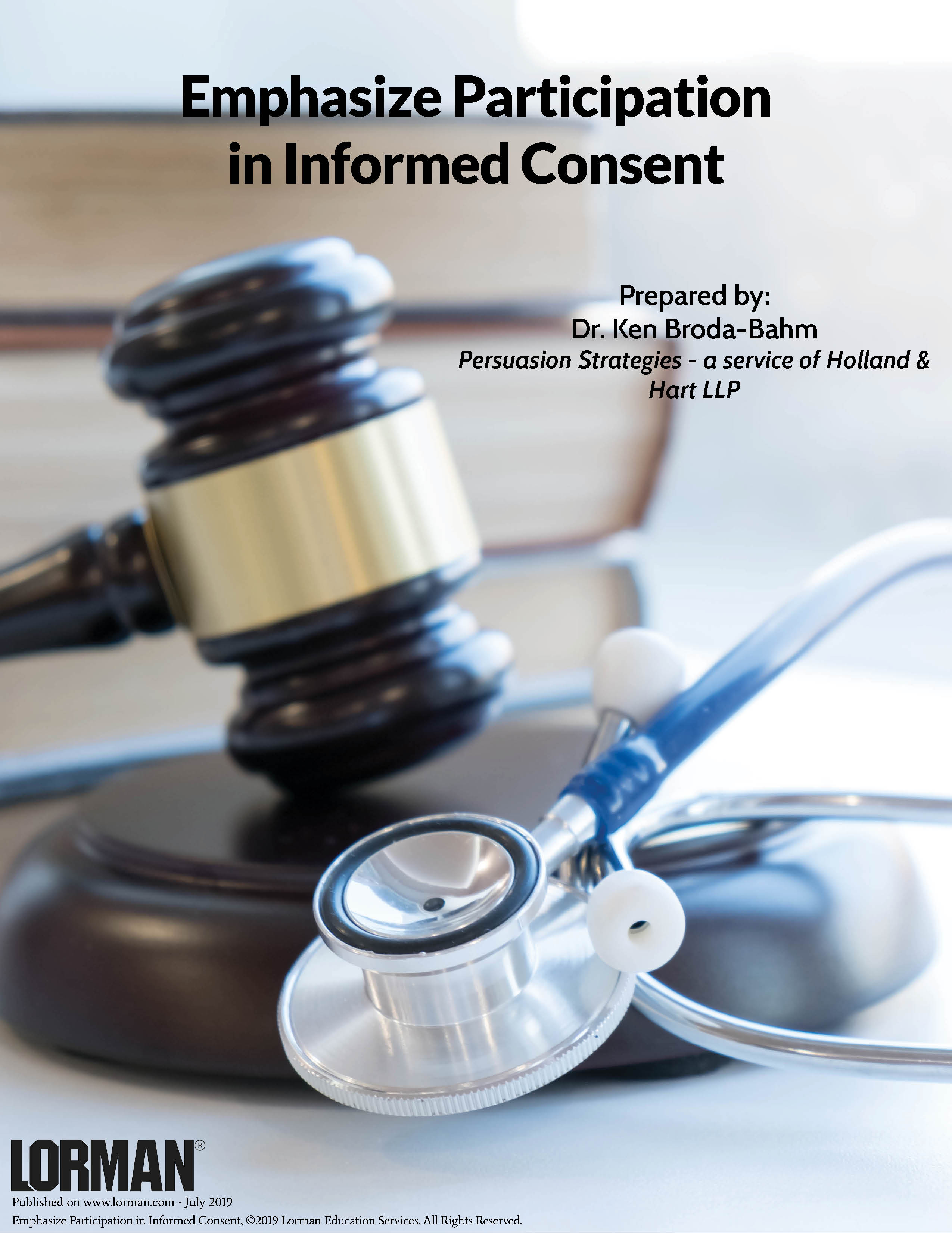 Emphasize Participation in Informed Consent