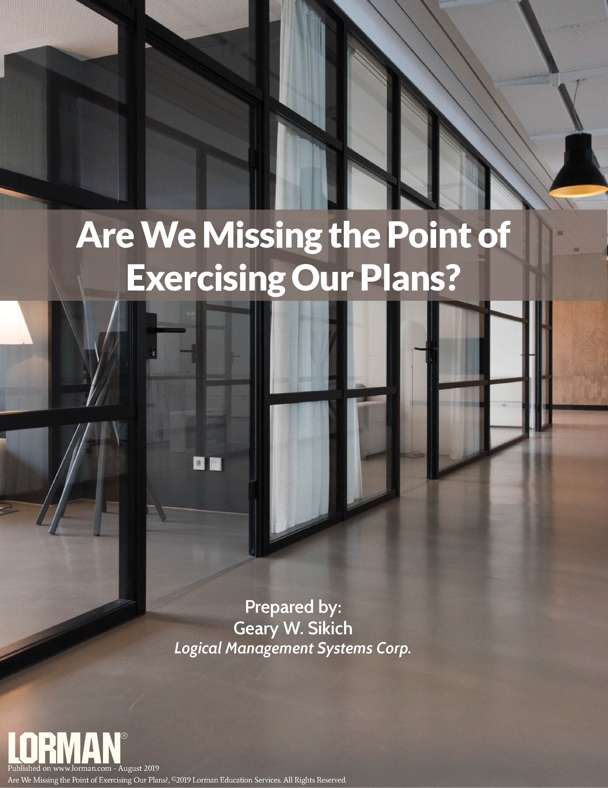 Are We Missing the Point of Exercising Our Plans?