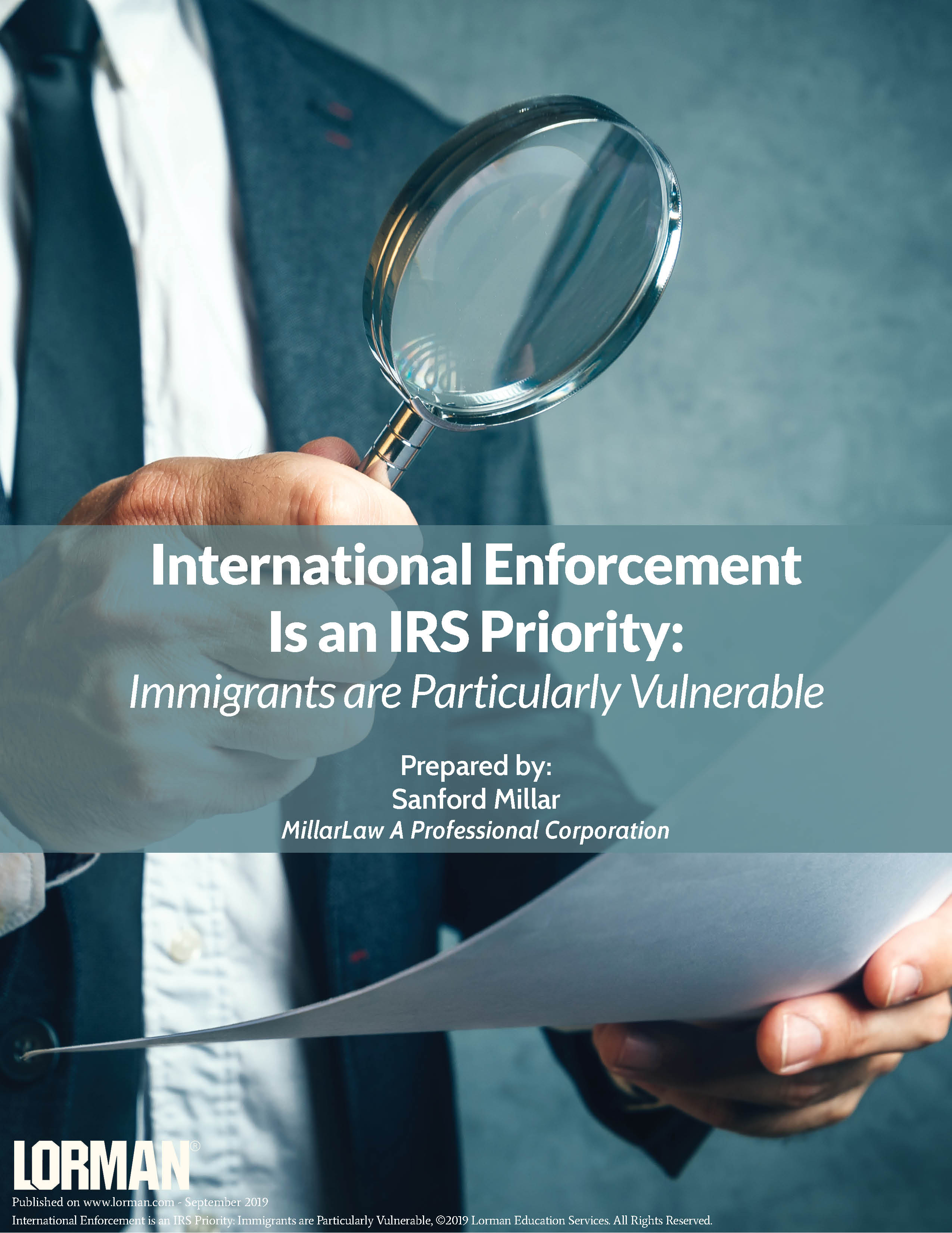 International Enforcement is an IRS Priority