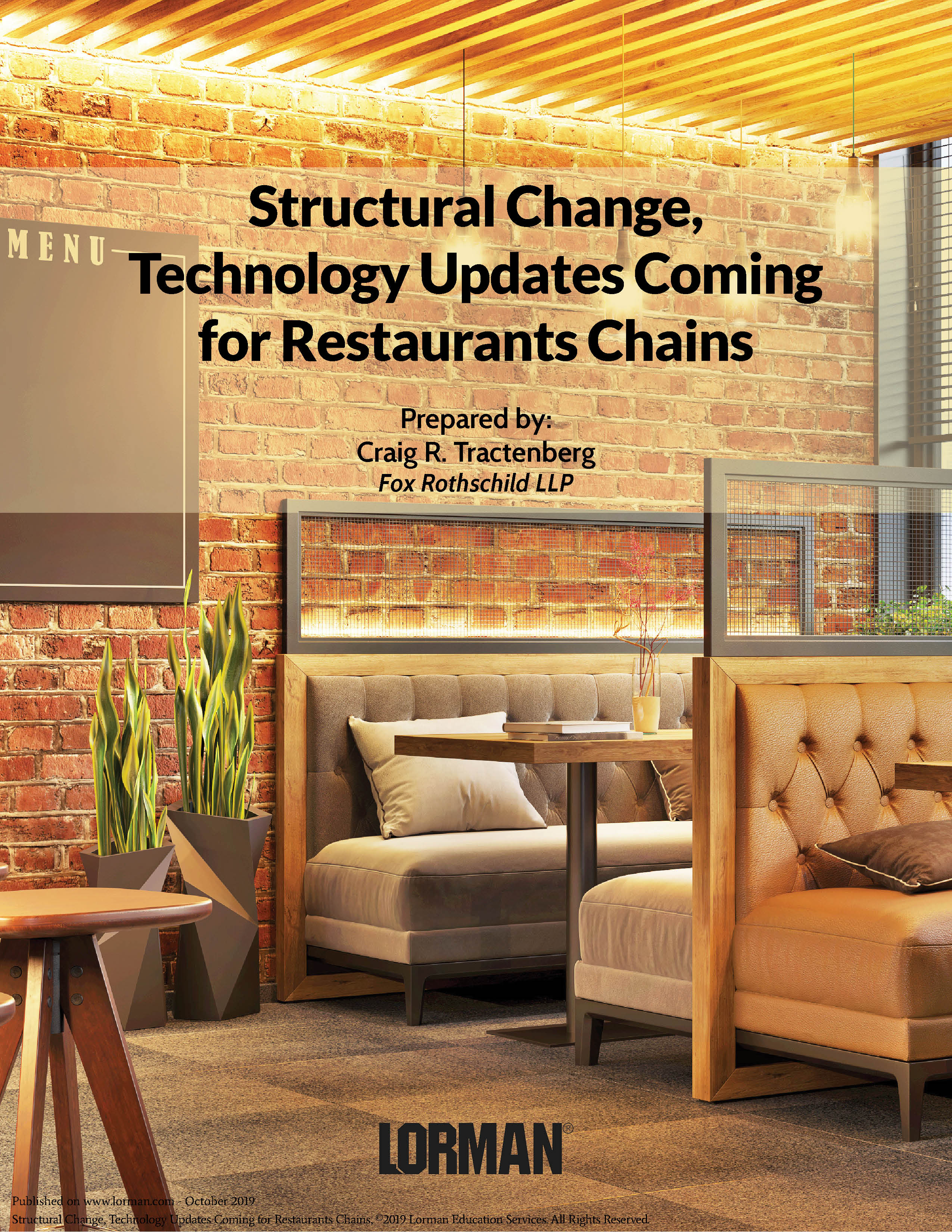 Structural Change, Technology Updates Coming for Restaurants Chains