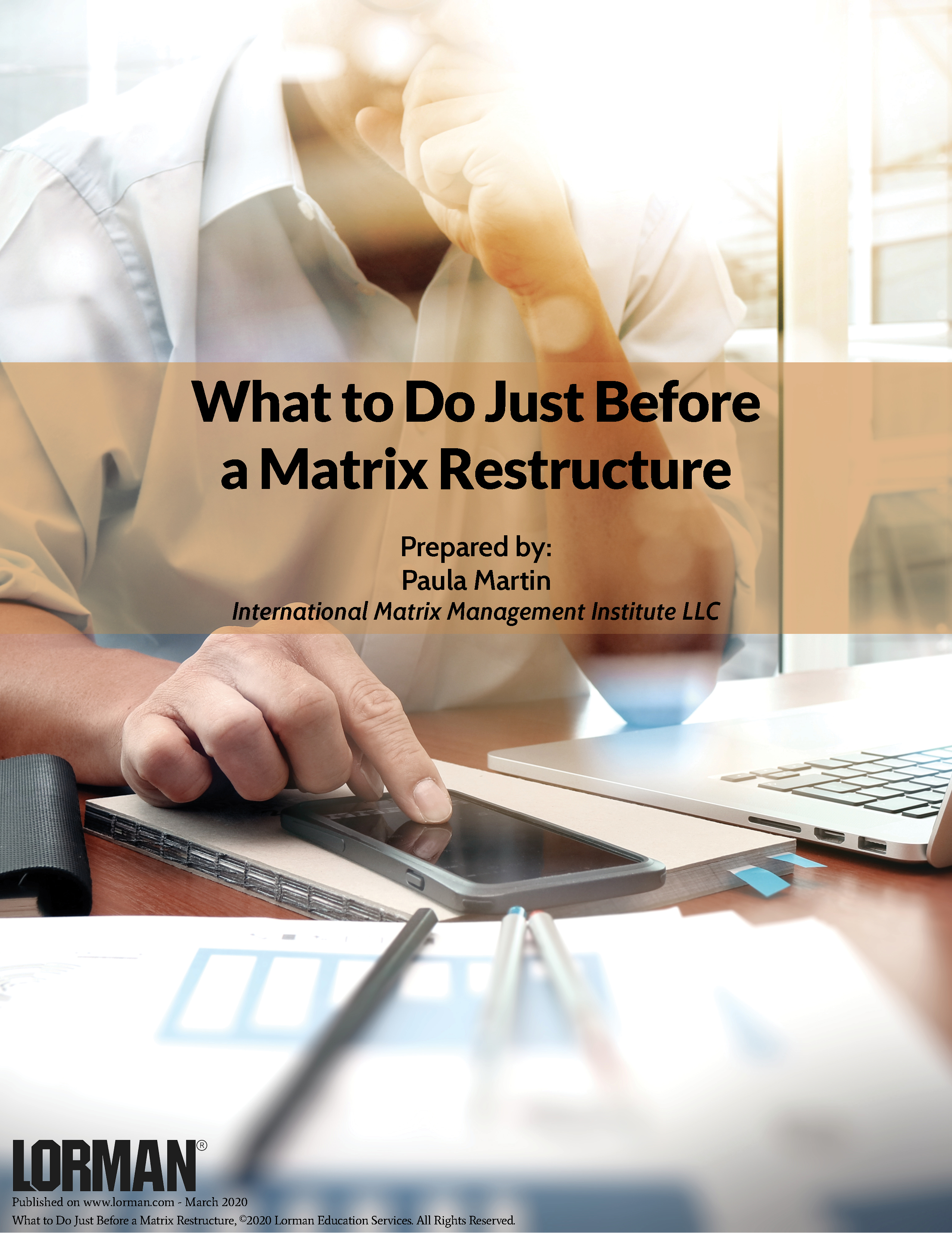 What to Do Just Before a Matrix Restructure