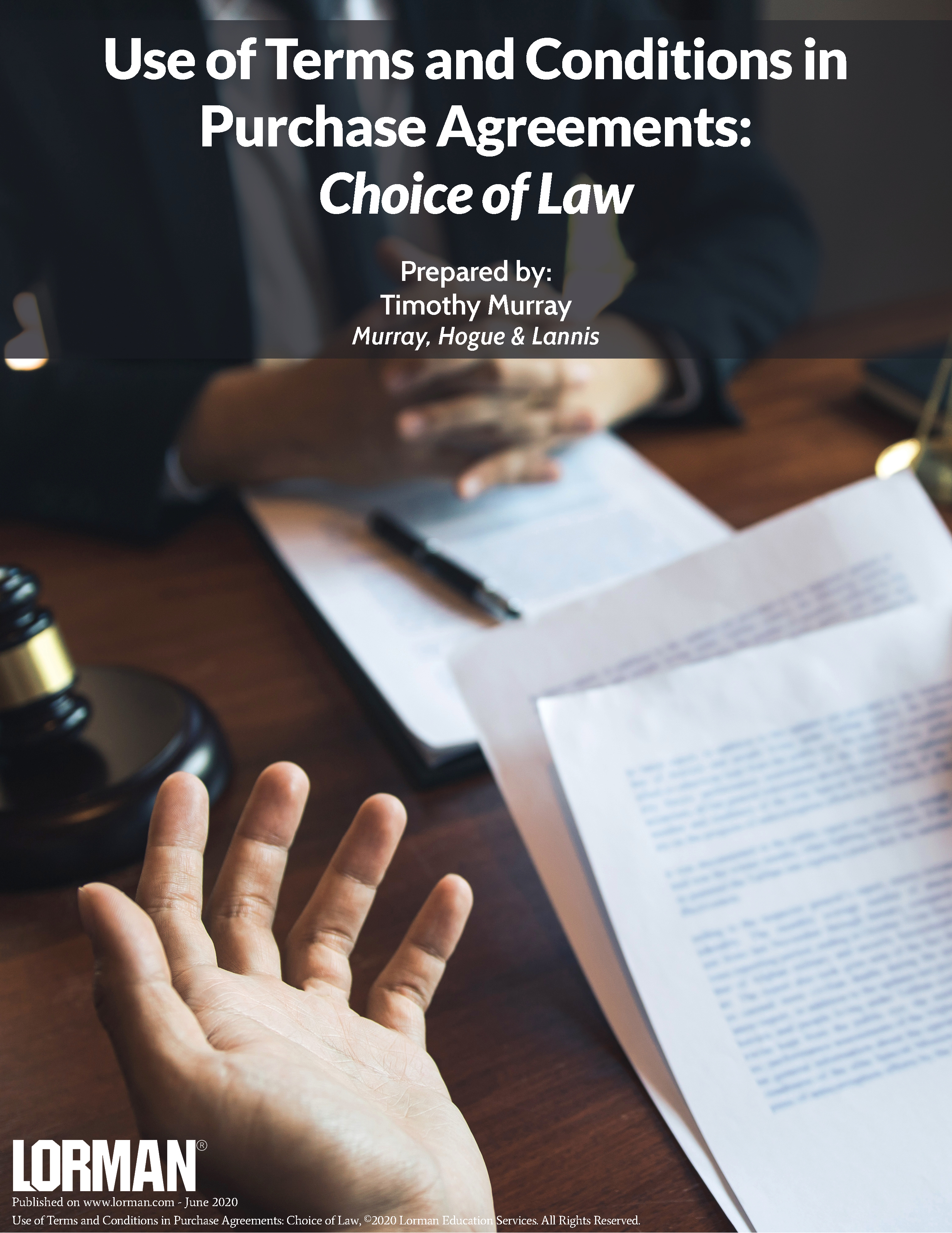 Use of Terms and Conditions in Purchase Agreements: Choice of Law