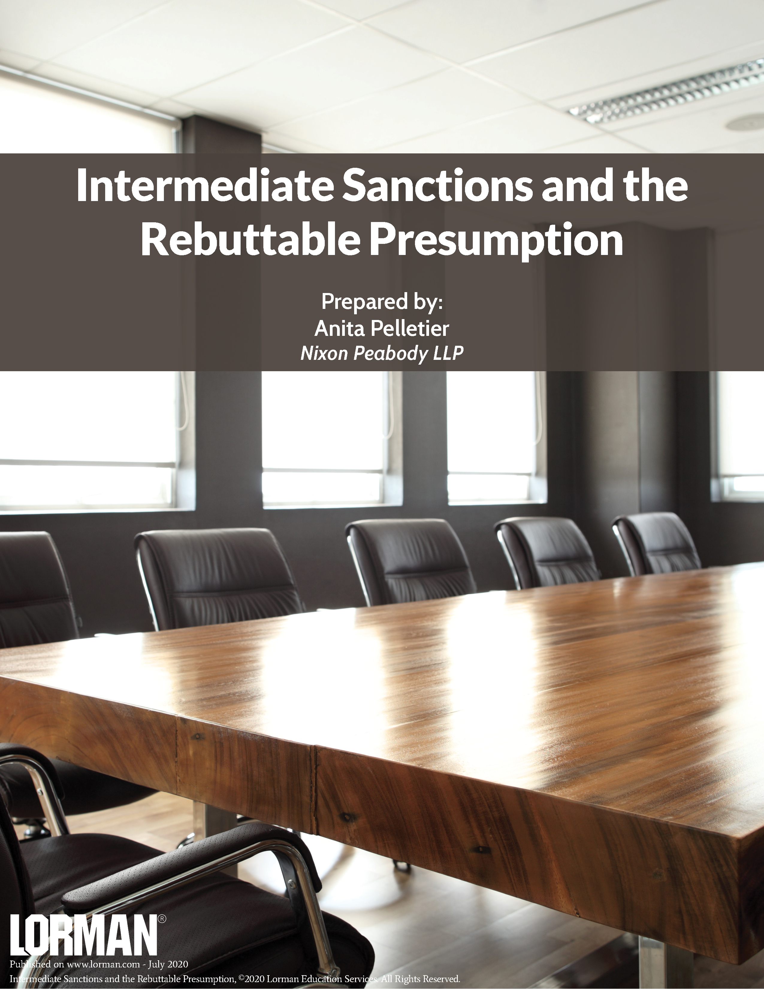 Intermediate Sanctions and the Rebuttable Presumption