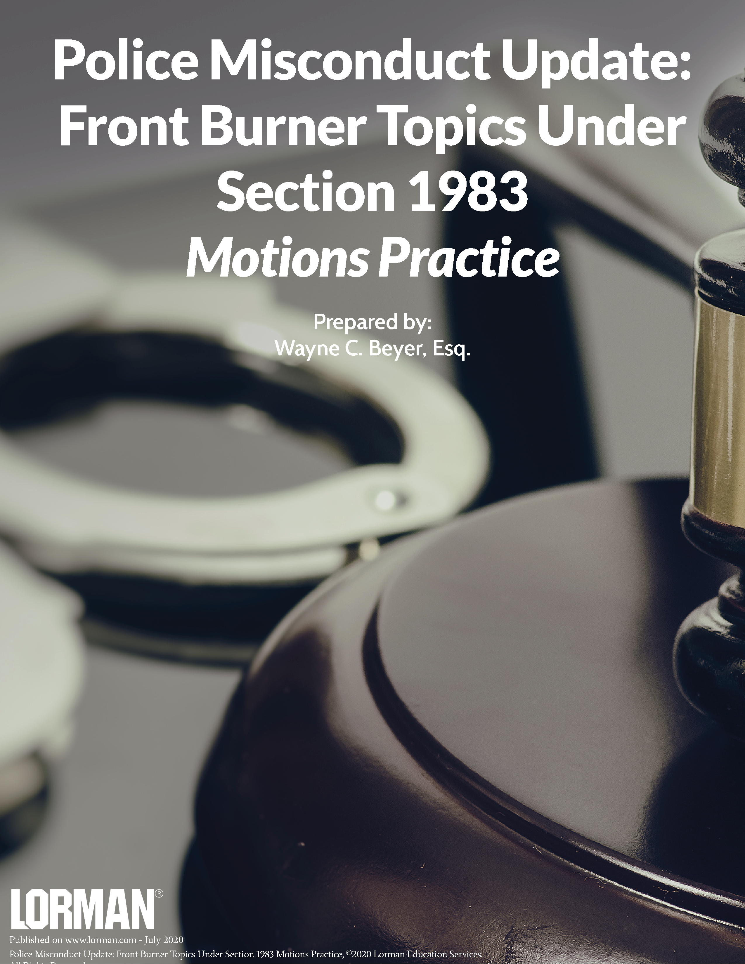 Police Misconduct Update: Front Burner Topics Under Section 1983 Motions Practice