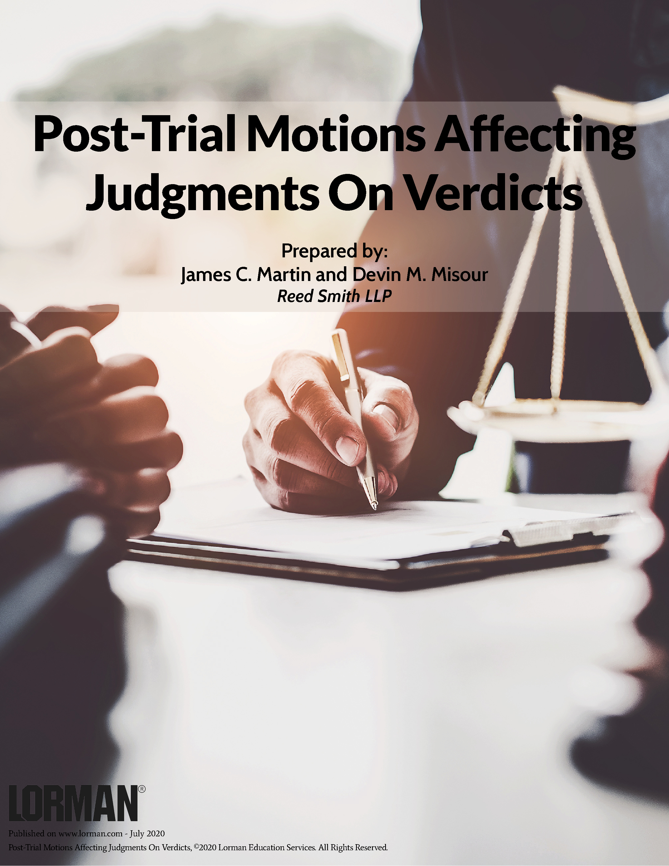 Post-Trial Motions Affecting Judgments on Verdicts