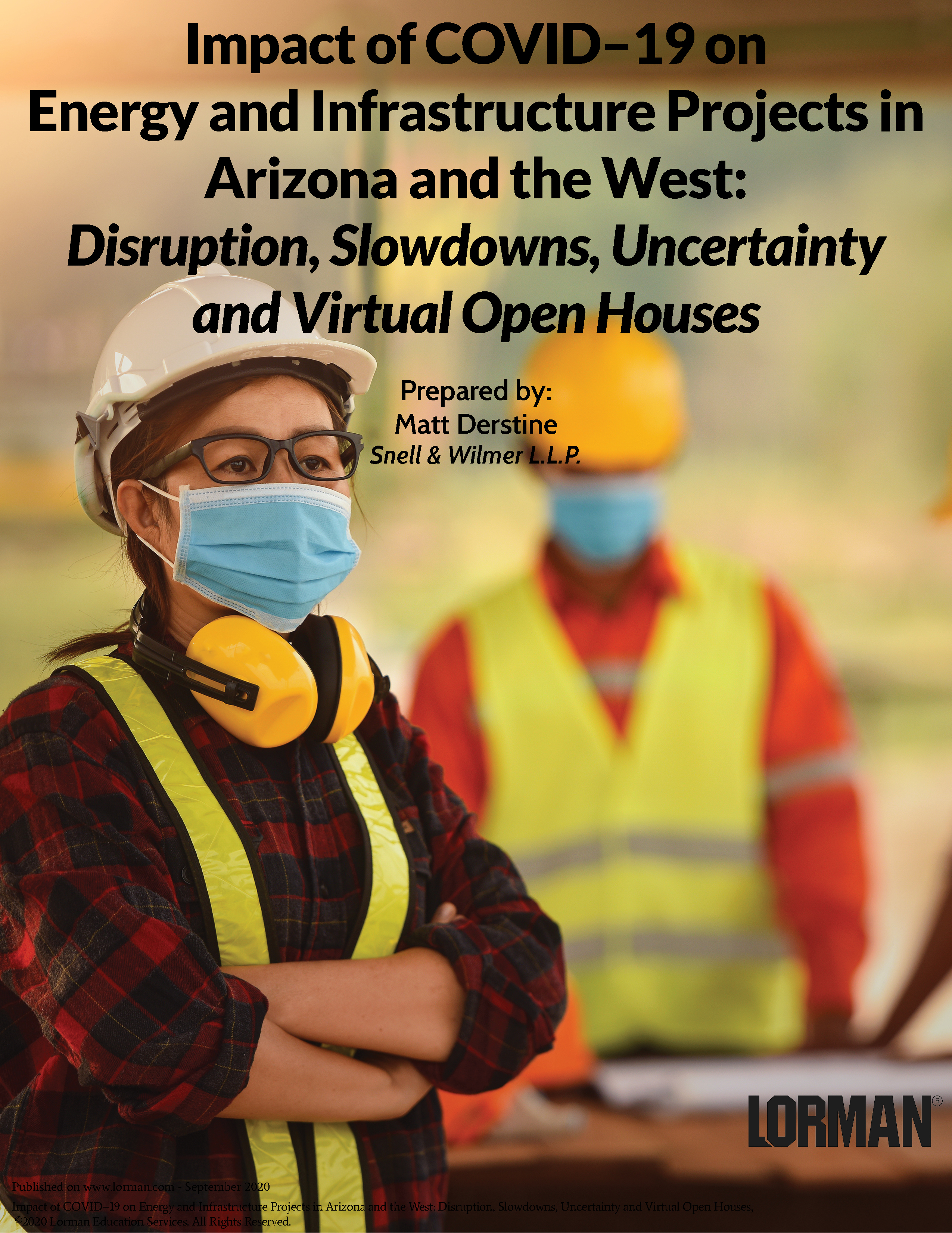 Impact of COVID–19 on Energy and Infrastructure Projects in Arizona and the West