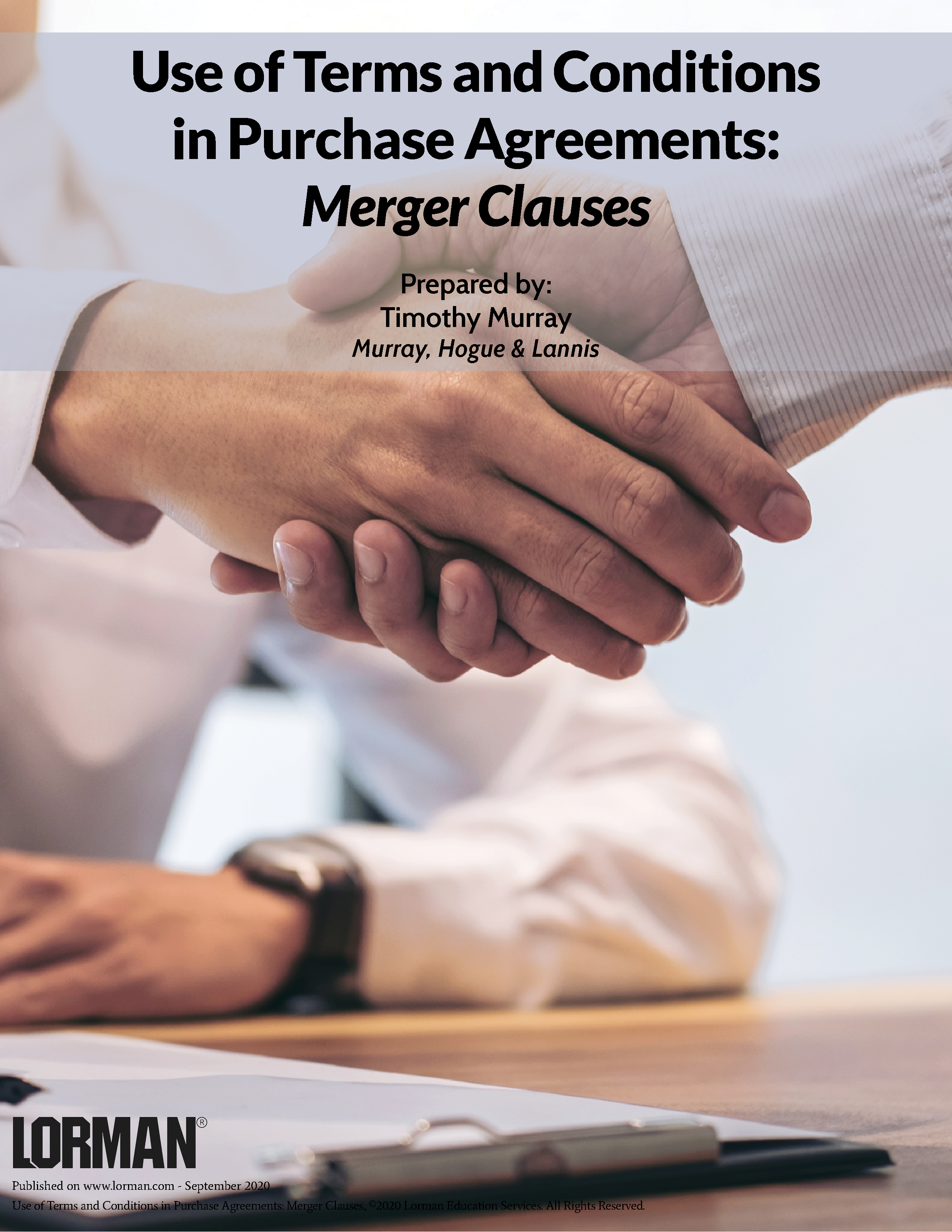 Use of Terms and Conditions in Purchase Agreements: Merger Clauses