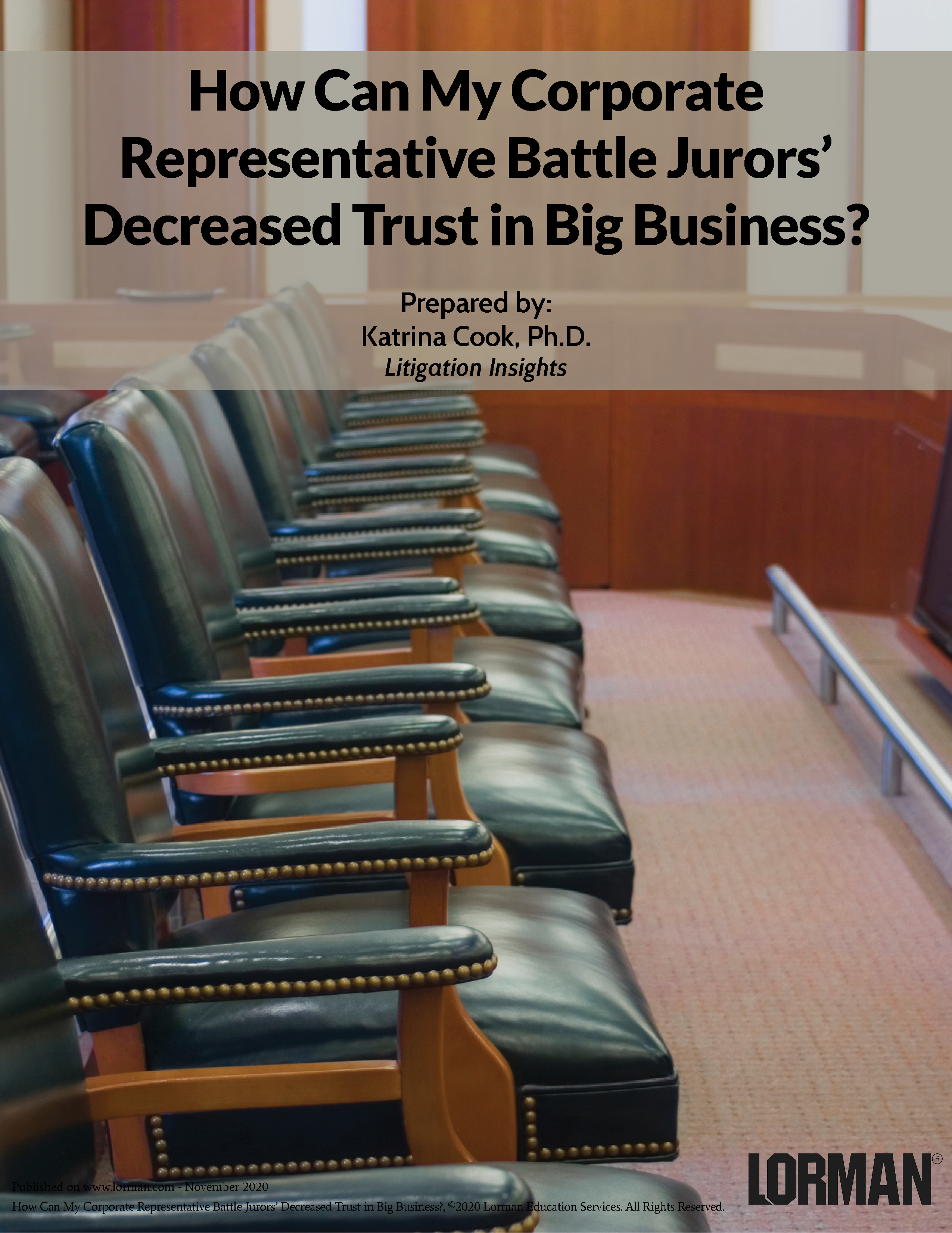 How Can My Corporate Representative Battle Jurors' Decreased Trust in Big Business?