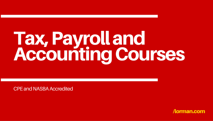 Tax and Accounting Courses