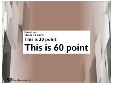 Font Point Size